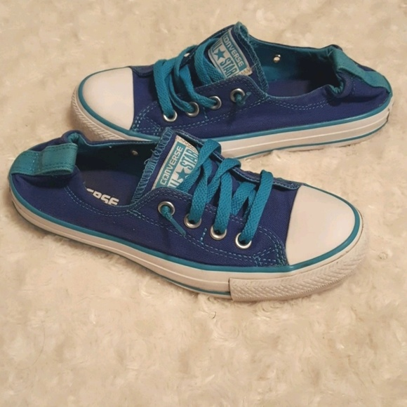 49015aedf787 Converse Shoes - Converse All Star Shoreline navy and teal low-tops